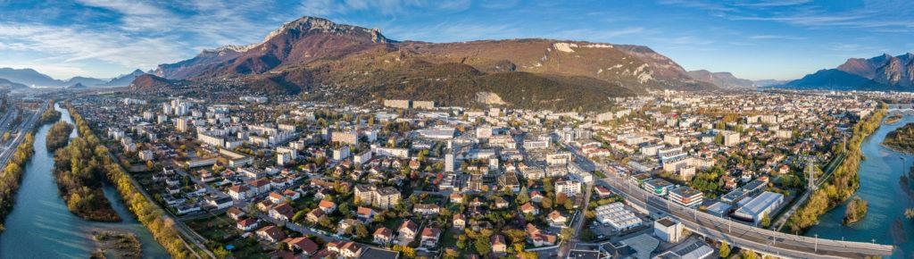 panoramique ville drone